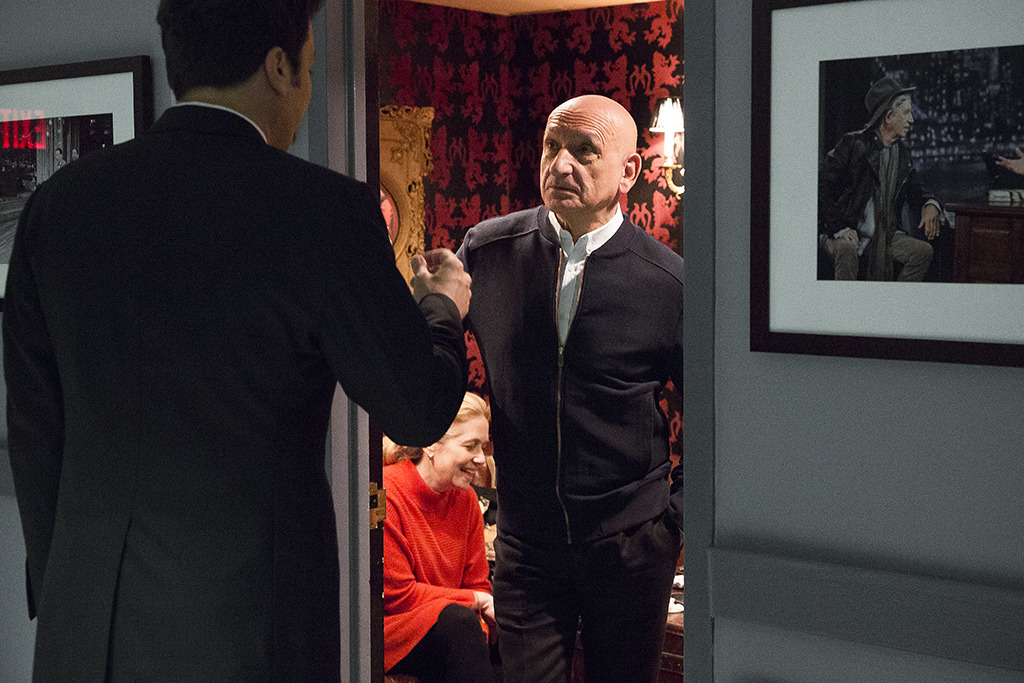 The phenomenal Sir Ben Kingsley backstage at Late Night
