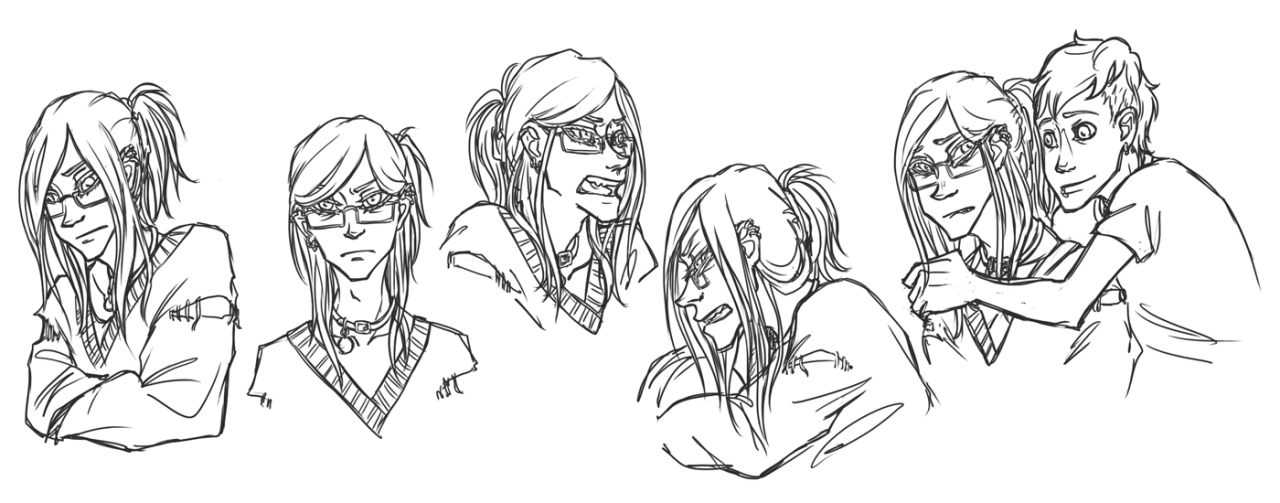 saofishstudios:  playing with expressions and stuff 1& 2) inspired by an imagineyourotp post about otps swapping bodies for a week, lithi expressions on chlorine's face and chlorine's on lithi's  3) little lithi proving that while we often interpret him as all sweetness and rainbows (because he kind of is, compared to the other verses of him), he is actually still pretty touchy and high strung about a lot of things. drawing him upset should really not be as much fun as it is.