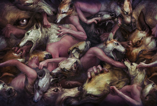 iamkidstrange:  Ryohei Hase is a freelance illustrator based in Tokyo, Japan who cut his teeth as a concept artist at NAMCO Bandai. To see more of his work, visit ryoheihase.com.