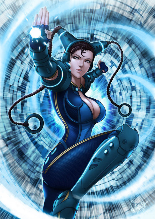 Cyber Chun Li // artwork by Magion02 (2013)