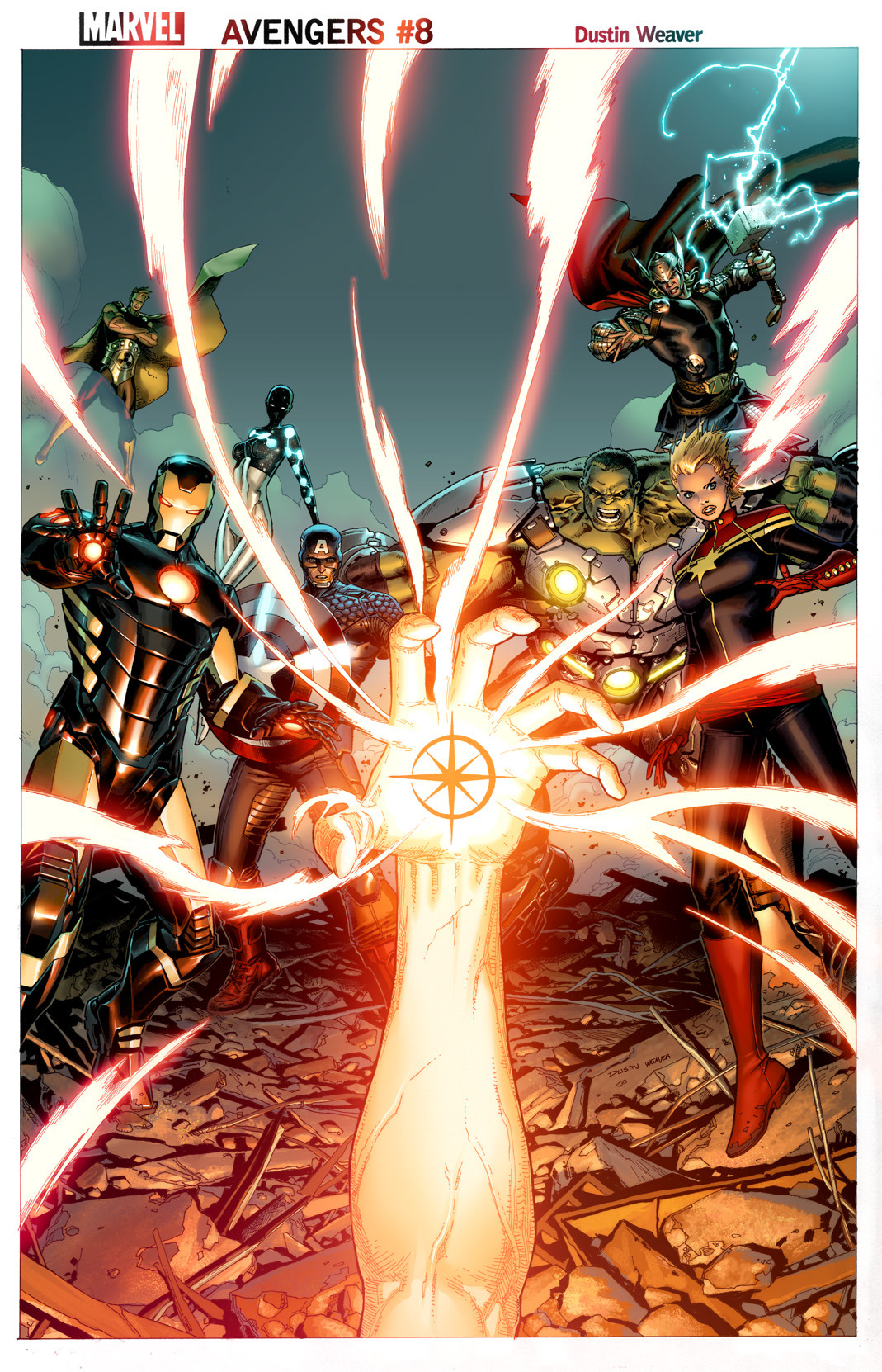 Avengers #8 cover by me with colors by Justin Ponsor. -Dustin