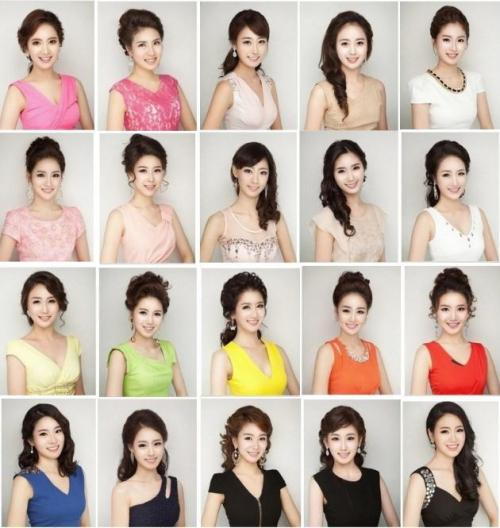 "tiramisu-tea:    Miss Korea 2013 is coming up. Look closely. This isn't the same woman with different clothes and hair. It's all the contestants for Miss Korea. Like this epic Reddit thread states, ""Korea's plastic surgery mayhem is finally converging on the same face."" Sure they're all beautiful, in exactly the same ways though."
