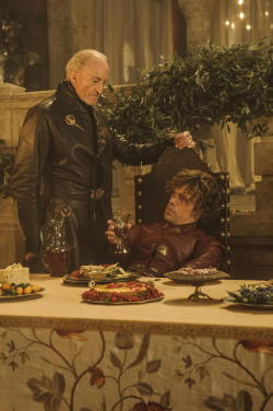 wicnet:  Charles Dance as Tywin Lannister and Peter Dinklage as Tyrion Lannister. S3E8. Second Sons