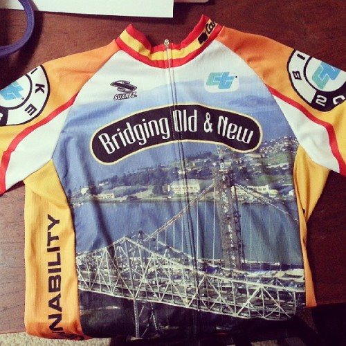 My Caltrans bike jersey came in!