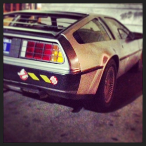 """Don't forget the flux capacitor!"" Back To The Future #sxsw #deloreanDMC"