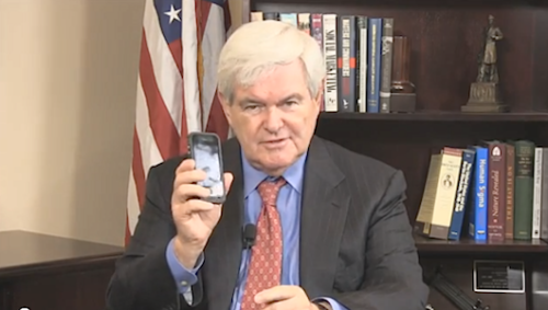 "Newt Gingrich needs your help renaming the cellphone The quandary has left him ""really puzzled."""