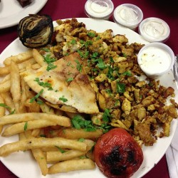 #Food! Yum! #instafood #chicken #frenchfries  (at Baraka Restaurant)