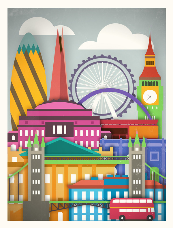 The London Skyline seen through vector art. Isn't it beautiful?