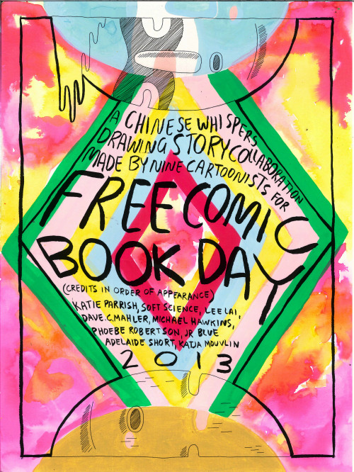 katieparrishtime:  FREE COMIC BOOK DAY COLAB COMIC STORY THAT I PUT TOGETHER, will put the comics up shortly XXX  U GUYS, this Saturday May 4, R U SO EXCITED?? Being given away FOR FREE at The Silent Army Storeroom, 110 Franklin Street, Melbourne CBD - SPREAD THE GOOD NEWSSS