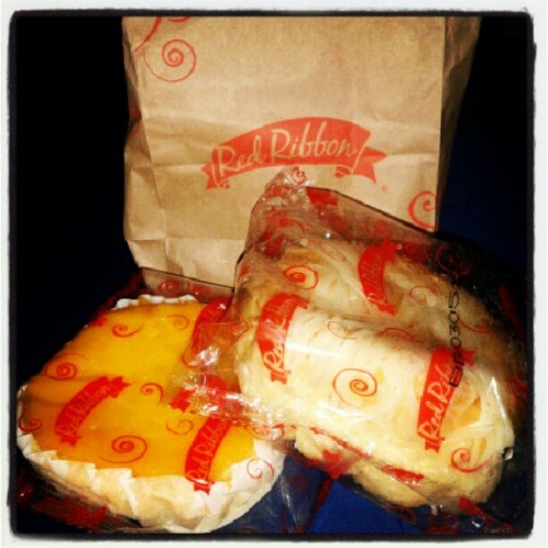 lets eat!  #redribbon #mamon #ensaymada #dinner