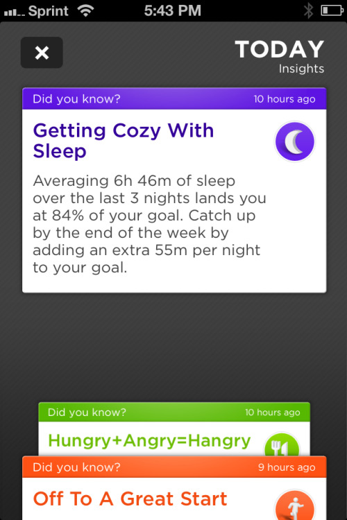 Clearly, my sleep tracker/pedometer/life coach is not designed for new parents. Not getting eight hours of sleep a night? Just try to sleep a little more! Tell that to my kids, Jawbone Up …