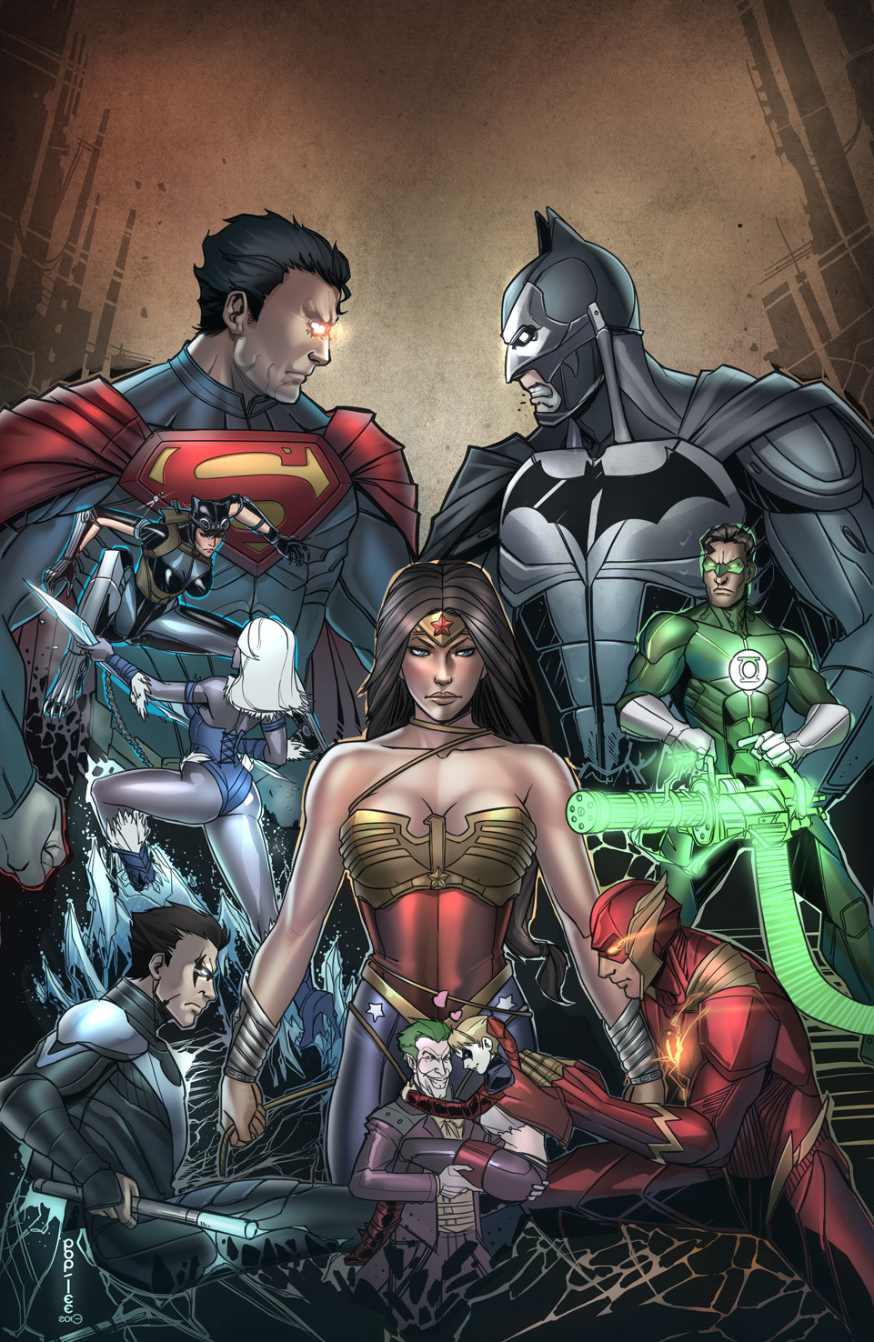 Injustice Gods Among Us by *pop-lee