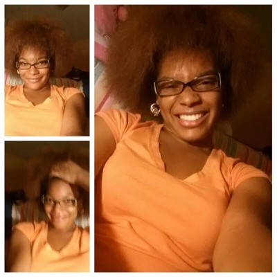 My black is beautiful! Thick hair don't care…This is me!  #thick #hair #natural #beauty #silliness #Tuesday #night #happy #smiley #me