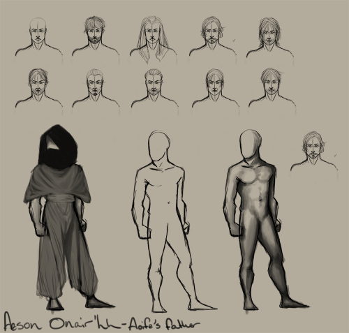Concept art of Aeson Onair'hh, who is Aoife's father.