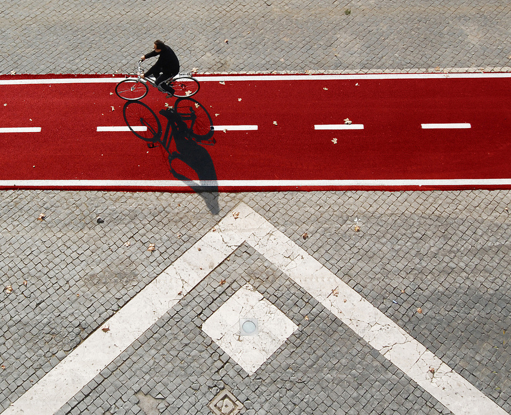 Red carpet for bicycles (by Fotòfilo.Mimmo)