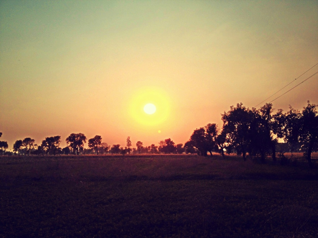 Sunset in Lahore, Pakistan