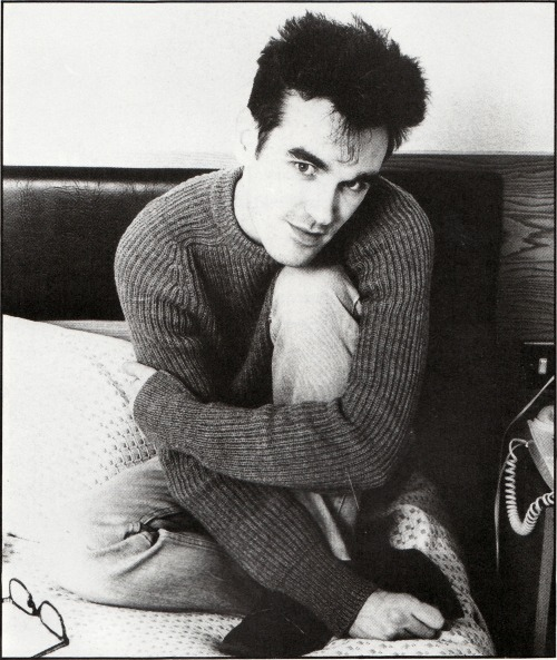 More Morrissey on the bed.