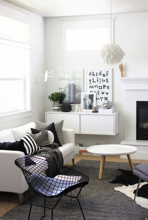 black&white decor #interior #design #home #inspiration
