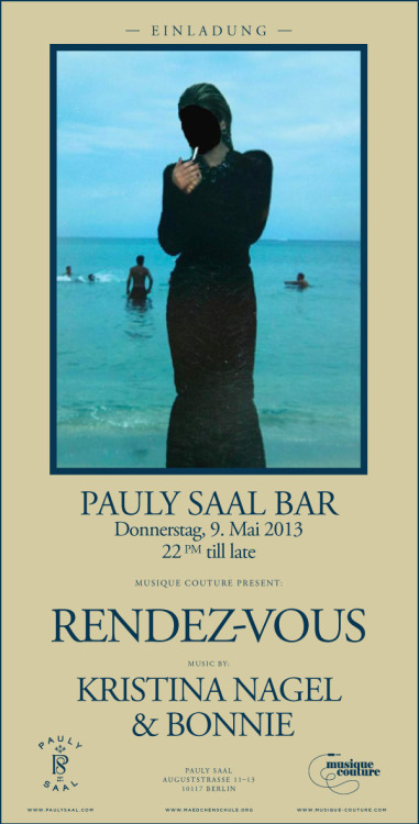 Tonight again and very welcome Musique Couture at Pauly Bar from 10 pm.