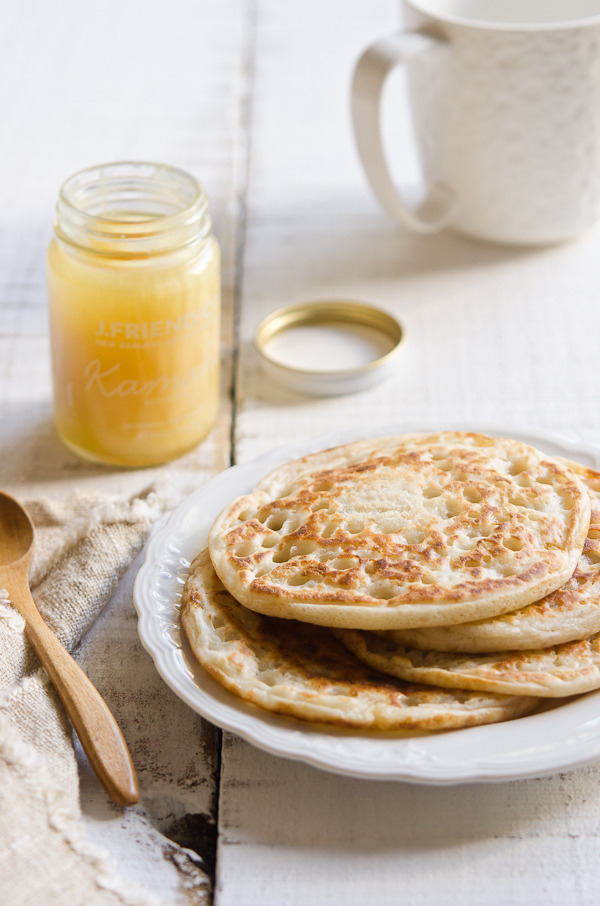 Coconut Milk Sourdough Pancakes / Crumpets