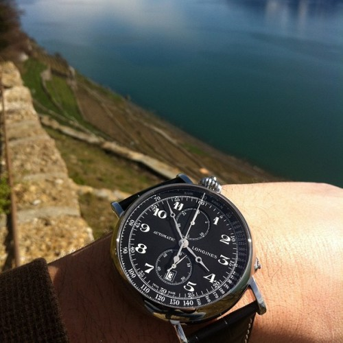 Longines Aviation Type A7 in the Lavaux, Switzerland. Full review soon on Watchonista.