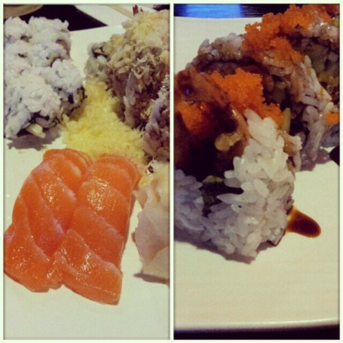 Sushi date night with @meganxtinez & @mayloveex3 ! #gno #sushi