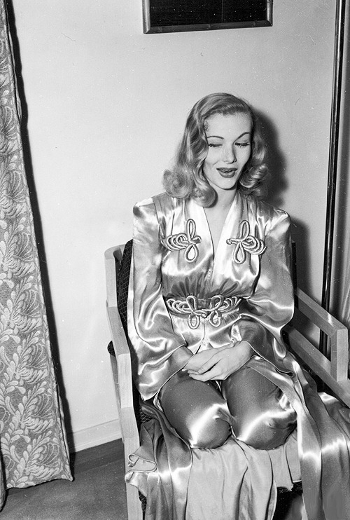 Veronica Lake in her dressing room, C.1950's