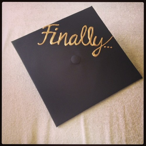Decorated my cap… #supersenior#5years#college#ucf#graduation#finally