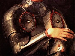cauldronandcross:  Portrait of Cosimo I dei Medici in armour (detail) Agnolo Bronzino  ca. 1545