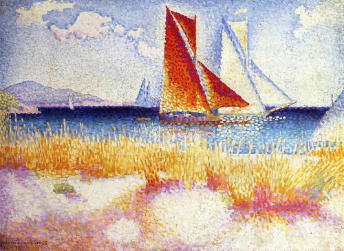 le-desir-de-lautre:   Henri-Edmond Cross (French, 1856-1910), Regatta, 1895, oil on canvas.