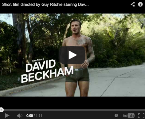 David Beckham is taking full credit for his crotch, thank you very much.