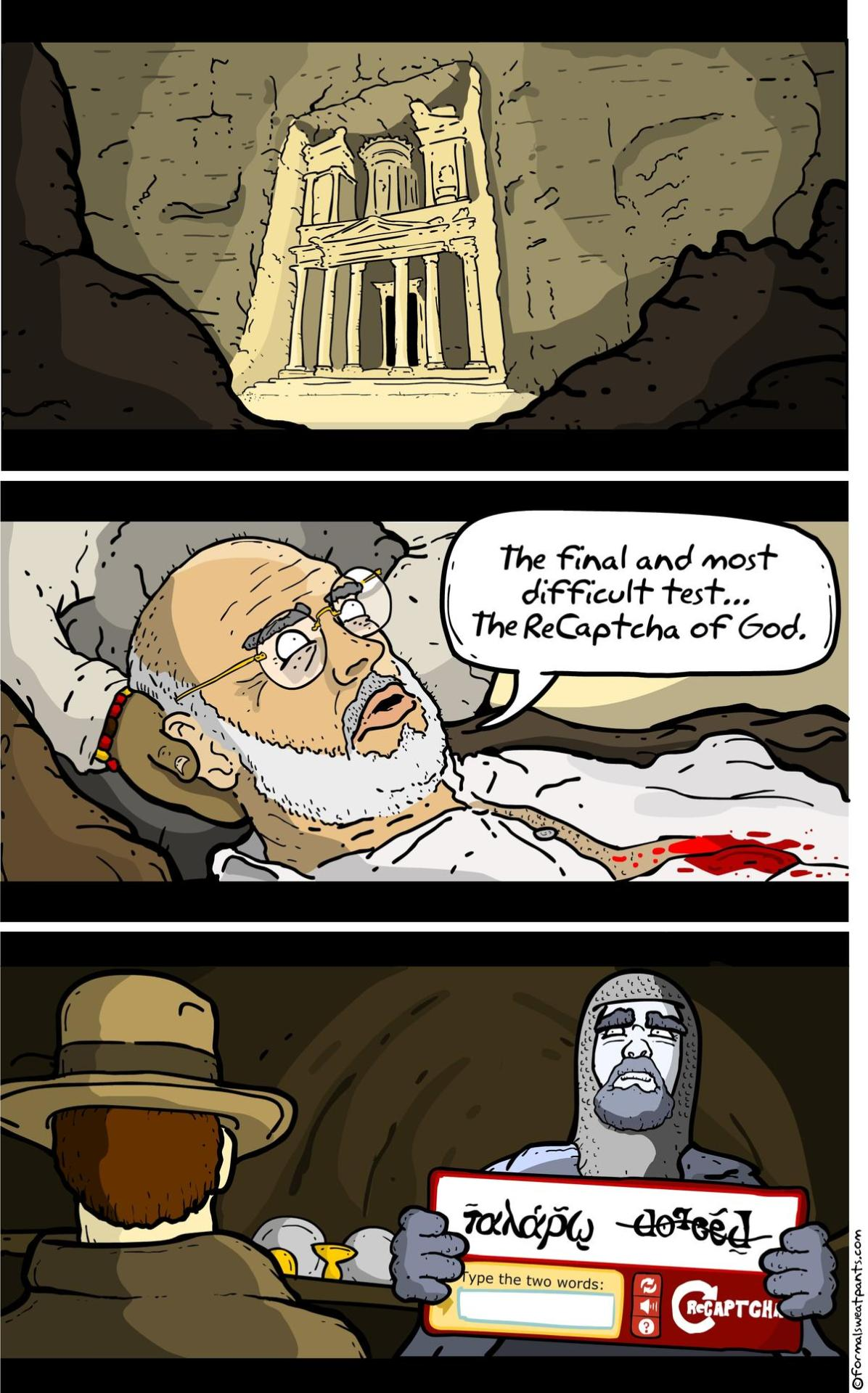 Indiana Jones' Real Final Test for the Holy Grail [COMIC]