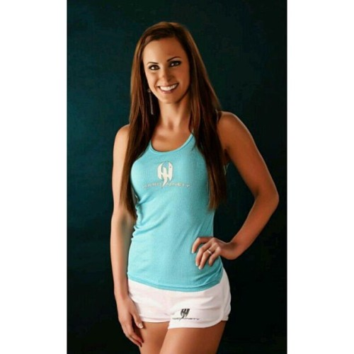 @dianawhittnpc #hardninety tank and shorts.