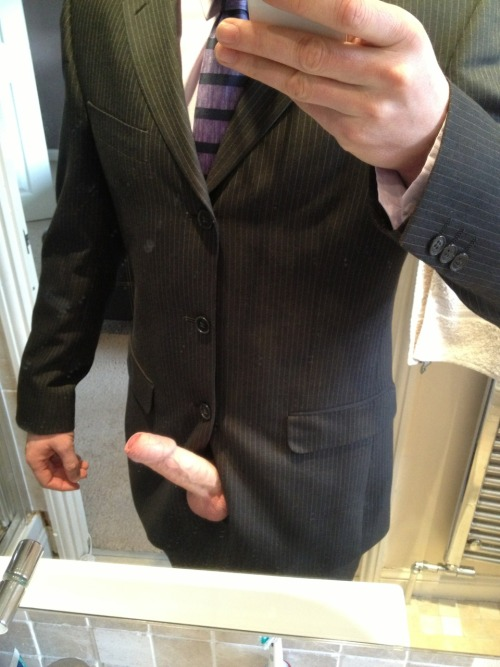 I had to put a suit on today