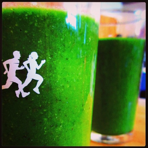 Green Smoothies - it's good to be home and back to the house, garden, kitchen, and the healthy routines that can be challenging to maintain while traveling. We jump start the day with warm lemon water, meditation, yoga, and the green smoothie!!! - Austin, Texas (at Travis Heights)