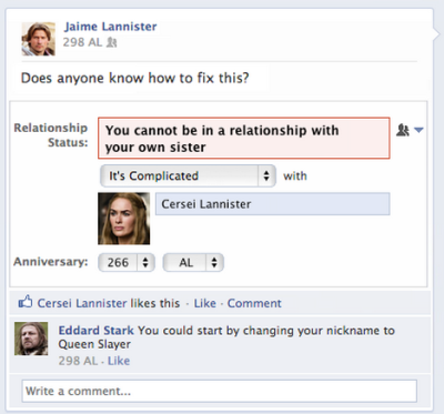 laughingsquid:  If Game of Thrones Characters Were on Facebook