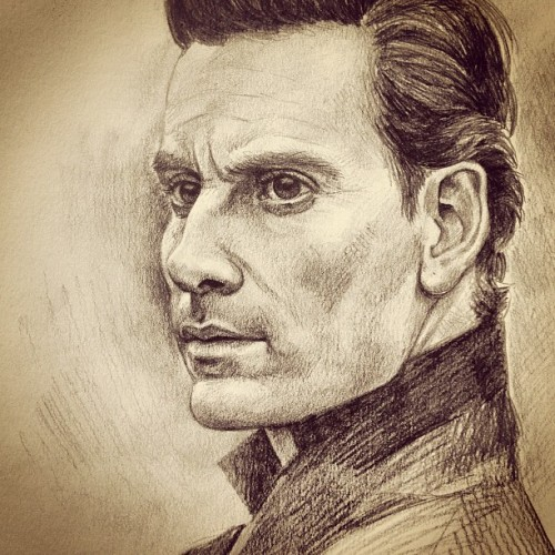Messin around doodling Michael Fassbender ;) #art #illustration #drawing #pencils #graphite #michaelfassbender #portrait