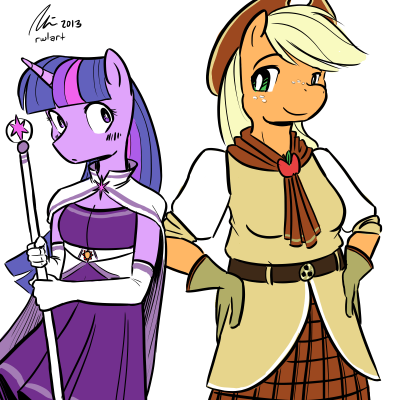 Magical girl ponies again! This time in color.