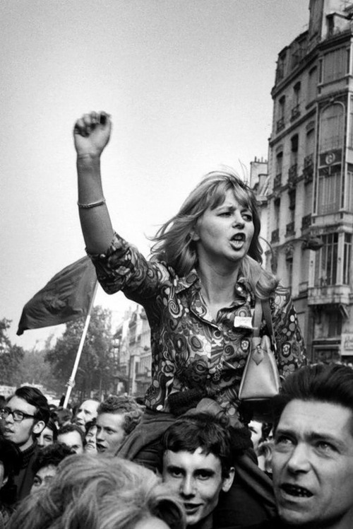 Marc Riboud     Student Demonstrators, Paris     May, 1968