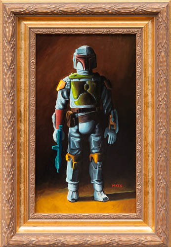 What Real Fan-Boy wouldn't want the Fett above his roaring fireplace?