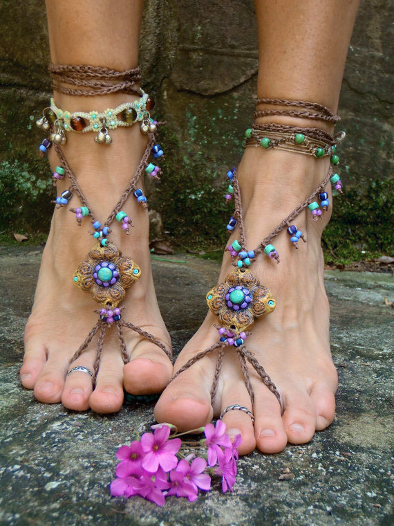 givemeaburger:  Beaded Barefoot Sandals