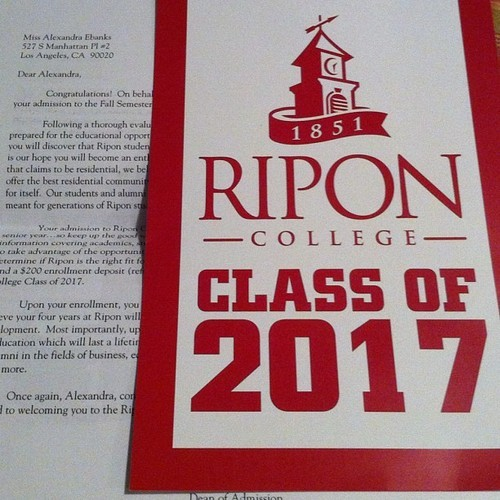 #riponcollege #firstacceptanceletter It feels great!
