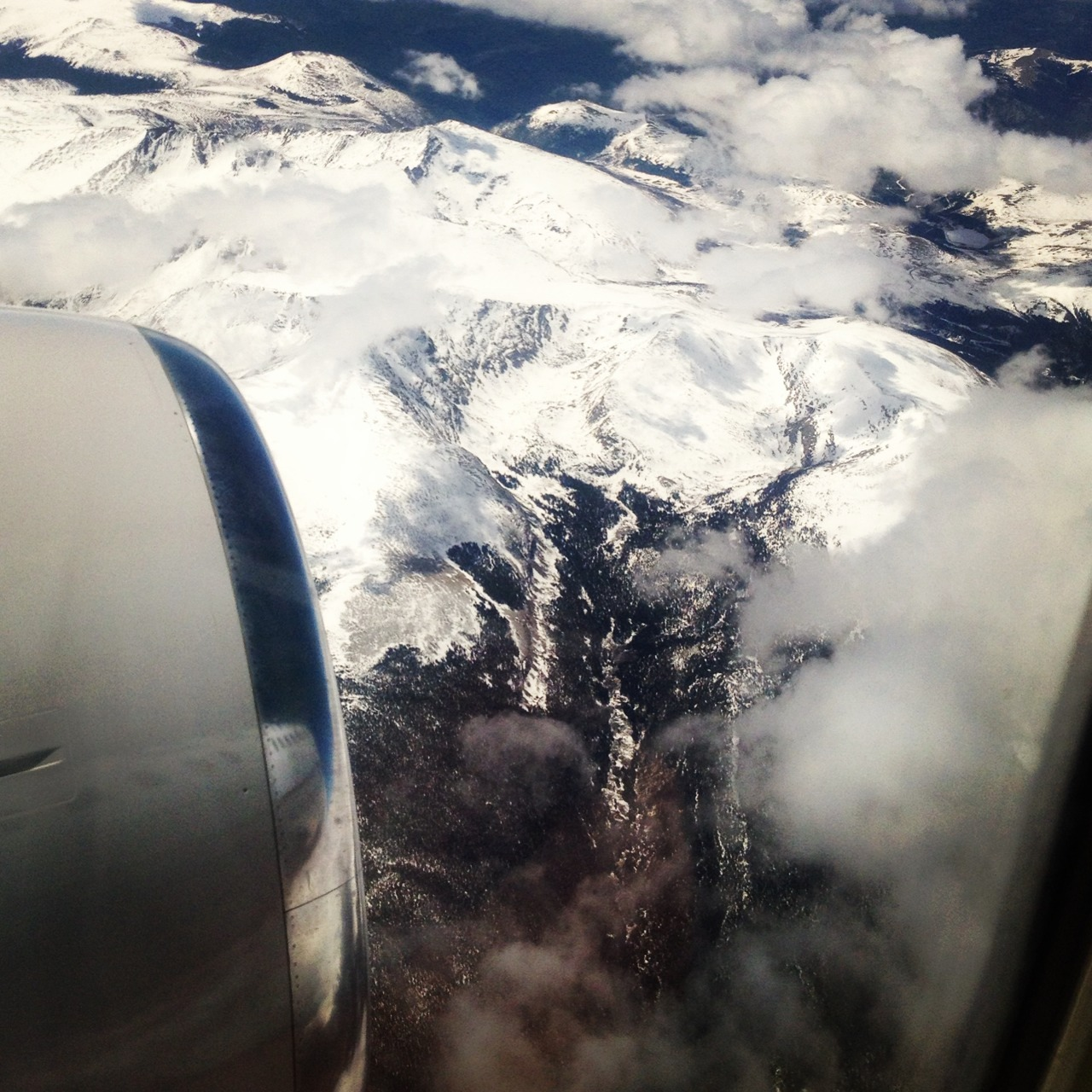 #snowcapped #mountains somewhere over #colorado