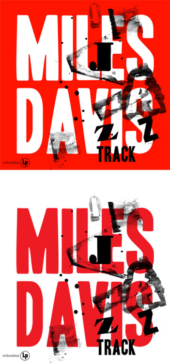 More type-only re-workings of old jazz covers. This time Mile Davis' 'Jazz Record'
