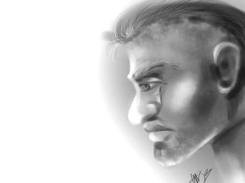theartofvio:  sort of quick study of Soap McTavish and masculine faces :uc could be better but p good for a man's face if you ask me