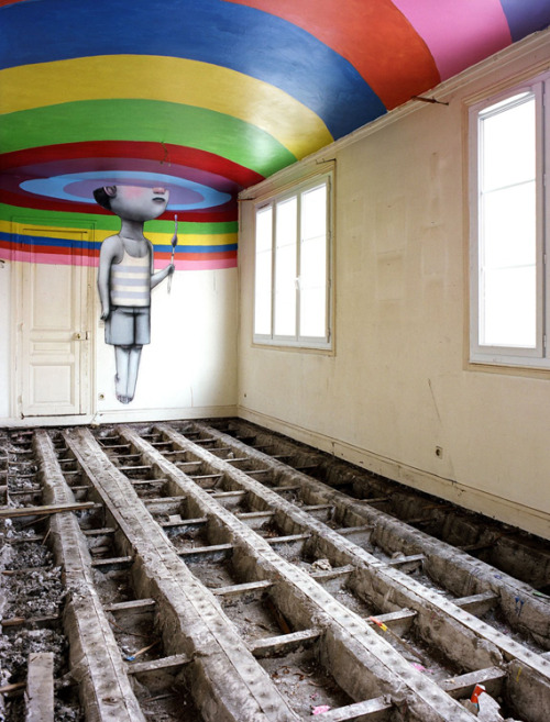 iheartmyart:  Derelict nightclub reborn as secret street art gallery  via Creative Review