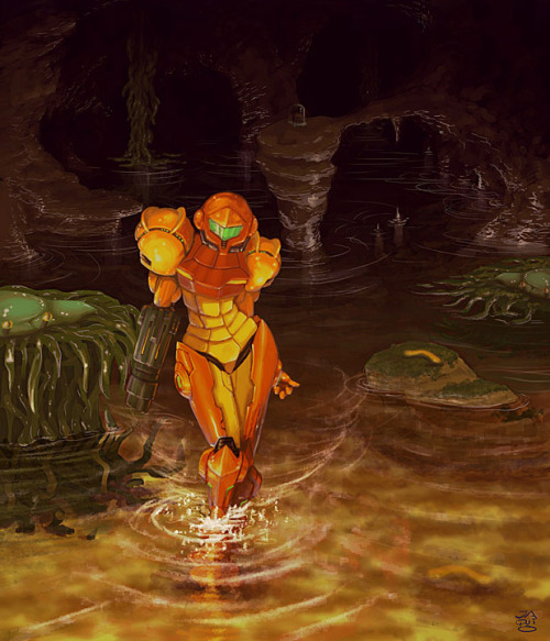 nintendocafe:  Art inspired by Metroid | Nintendo