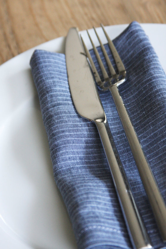 (via Linen Dinner Napkins FREE SHIPPING Denim by toocutecustomcrafts)