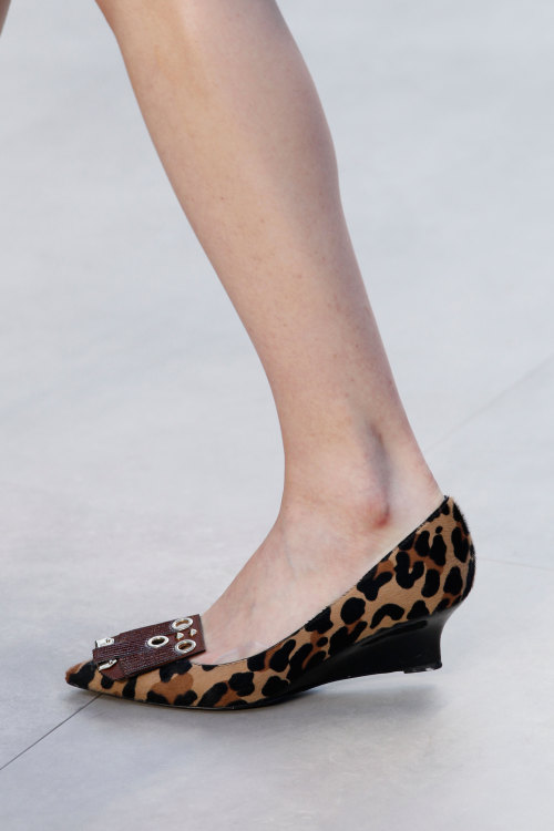 The shoes at @Burberry were a very sensible height, what do you think of these? #LFW