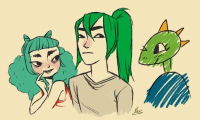 history1970s:  kaykonut:  da crew (((i cant draw dino-boys)))  MARBEL LOOKS SO PERFECT HERE OMFG her eyebrows!!!!!!!!!!!